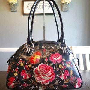 Sharif 1827 Leather Embroidered Handbag